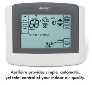 Aprilaire Humidifier Display Screen