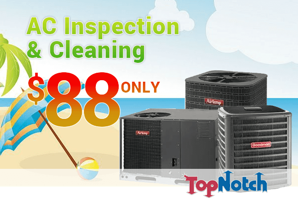 summer-promo AC inspection and cleaning discount